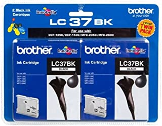 Brother LC-37BK2PK Twin Pack Black Ink Cartridges