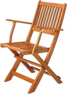 Amazon.es: sillas madera jardin