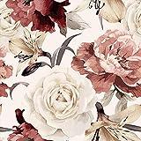 murando Papel Pintado 10 m Flores Fotomurales tejido no tejido rollo Decoración de Pared decorativos Murales XXL moderna de Diseno Fotográfico - Rosas Peonias b-C-0245-j-a