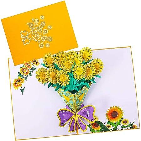 Biglietto d'auguri pop up-JPYZ - 3D-Biglietti di Auguri Carta 3D Pop-up d'Amore per Compleanno Romantico San Valentino Festa Della Romantico Anniversario