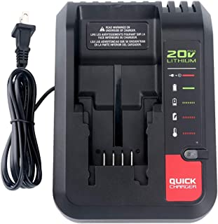 Lasica 20V Charger PCC692L PCC691L for Porter Cable 20V MAX Lithium Ion Battery PCC680L PCC681L PCC682L PCC685L PCC685LP PCC699L Black+Decker 20V MAX Lithium Battery LBXR20 LBXR2020 LB2X4020-OPE