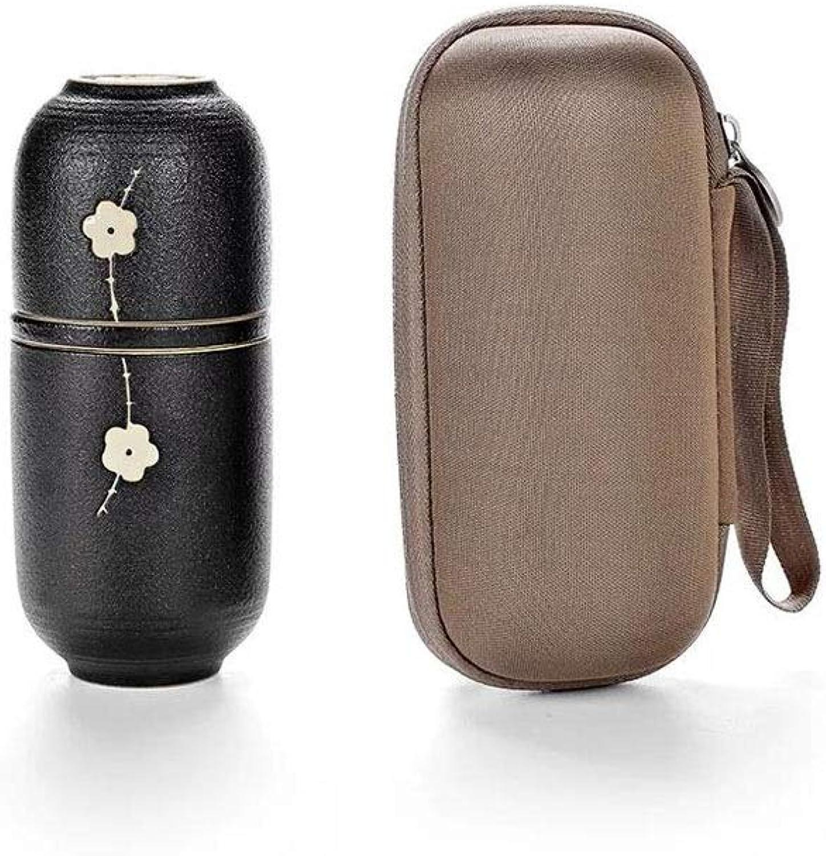Ensemble de thé portable en céramique Mini Set thé avec filtre pour la maison, bureau, voyage en plein air (Couleur   blanc)
