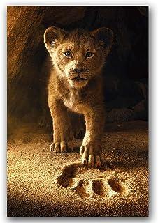 ZMK-720 Art Mural Le Roi Lion Film Affiche Mur Art Toile d'impression sur Toile Peinture Décoratif Image Papier Peint Salo...
