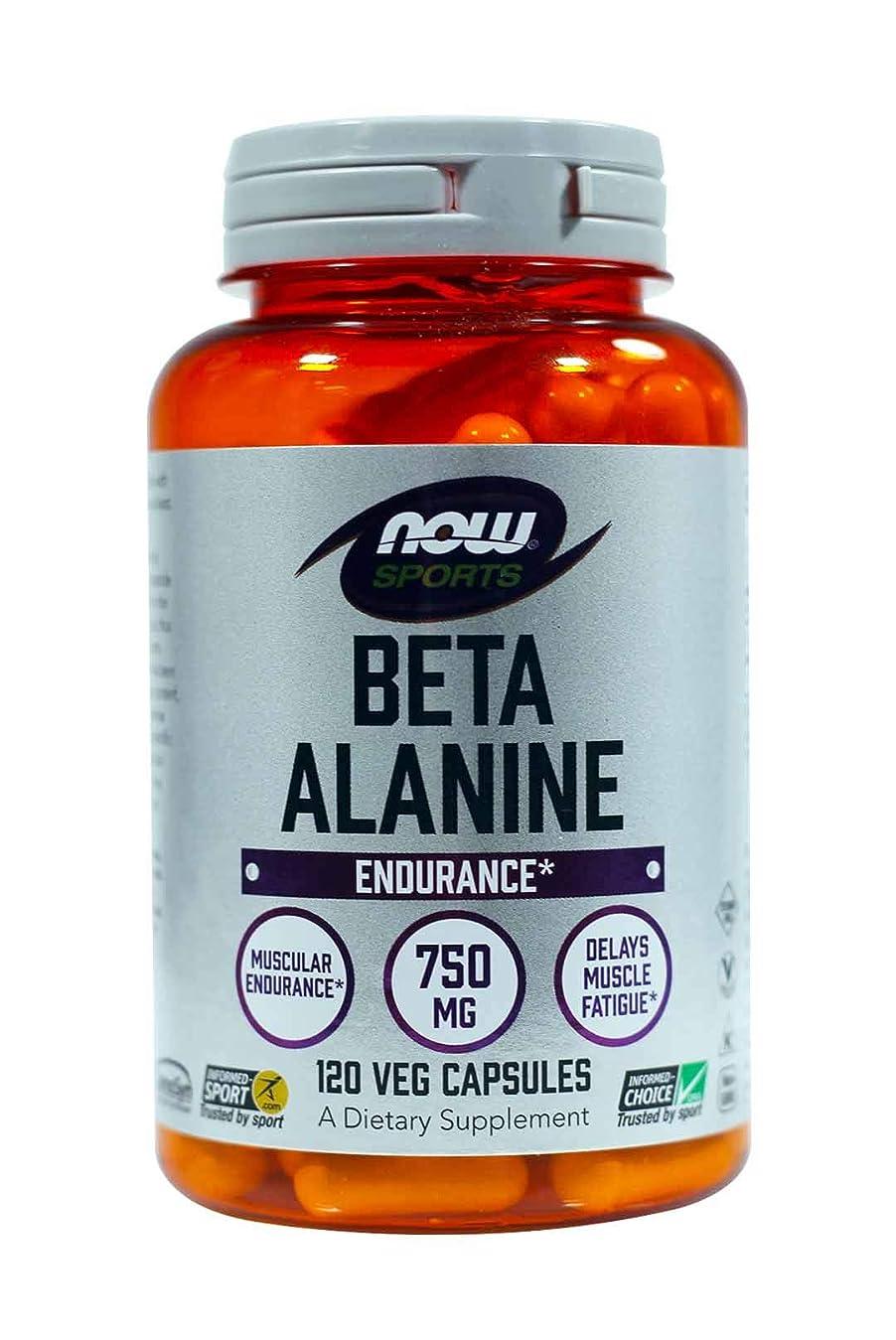 書くカートン理解する海外直送品Now Foods Beta Alanine, 120 Caps 750 mg(Pack of 2)