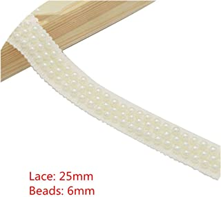 1Yard/Lot White/Black Beaded Lace Trim Tape Fabric Ribbon DIY Collar Sewing Garment Headdress Materials N0301,Style 8 White