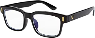 Сomputer Blue Light Blocking Glasses for Women/Men. Anti-Glare, Clear, No-Tint Lenses with Cool Black Frame - Reading, Gaming, Working glasses