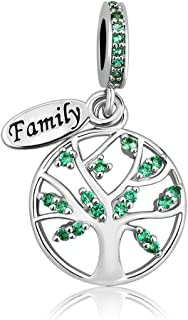 New Family Tree of Life Dangle Charm Bead for Bracelet Pendant