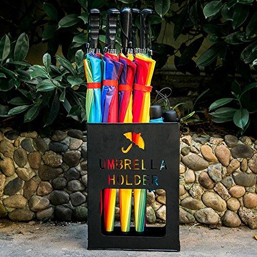 Support de parapluie / support de stockage de parapluie / rouille d'alliage de fer / seau de parapluie de ménage / 40 * 11 * 30CM ( Couleur : Noir )