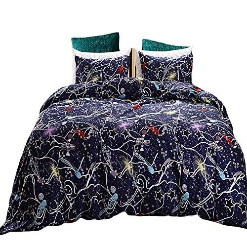 Black Temptation Inicio Impreso Soft Hotel Duvet Cover Set 2PC Twin Size #149