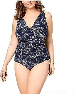 622a04ba7e25c Michael Michael Kors Plus Size Twist-Front Tummy-Control One-Piece Swimsuit  Navy