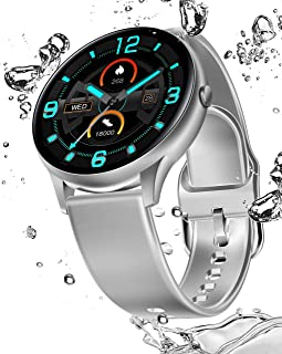 Smart Watch Fitness Tracker Heart Rate Monitor Body Temperature Blood Pressure Step Calories Counter Sleep Monitor Waterpr...