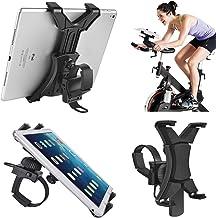 Soporte para Tablet para Bicicleta giratoria, Soporte Universal para iPad para Equipo de Gimnasio Interior, Cinta de Correr, Soporte Giratorio Ajustable de 360° para Tablets y iPad de 7 a 12 Pulgadas