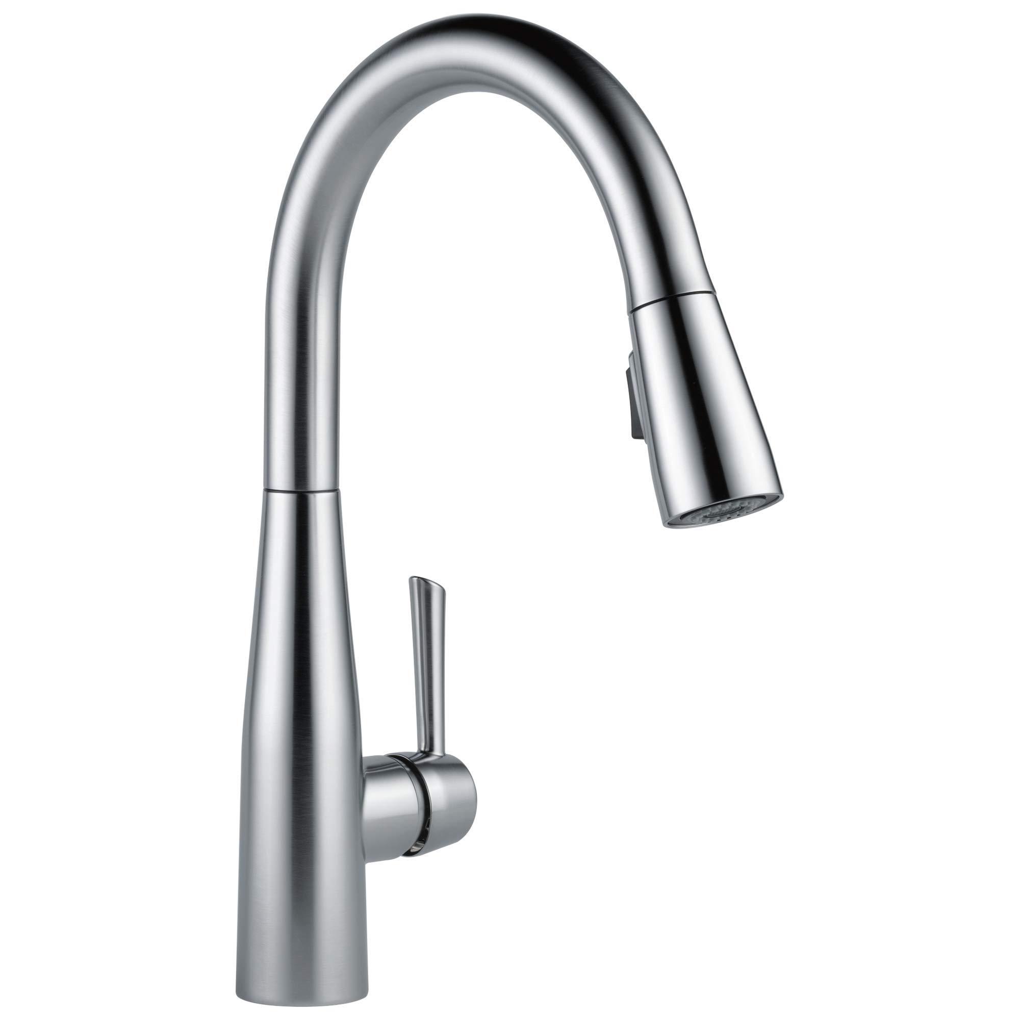 Delta Faucet Essa Pull Down Kitchen Faucet with Pull Down Sprayer, Kitchen Sink Faucet, Faucets for Kitchen Sinks, Single-...