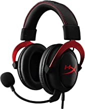 HyperX Cloud II Gaming Headset for PC & PS4 & Xbox One, Nintendo Switch - Red (KHX-HSCP-RD) (Renewed)