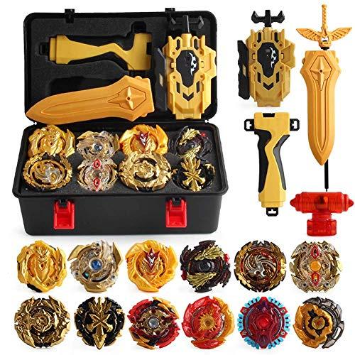 Yezelend Burst Wrestling Masters Fusion, peonza giroscópica y lanzador de plástico, versión dorada, juguetes interesantes y regalos para niños