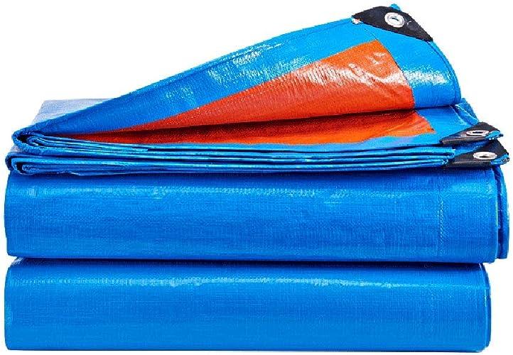 Tarpaulin HUO Toile antipluie Toile imperméable Solscreen Bache Prougeection Contre la Pluie Isolation en Tissu épaississement Canopée Toile Bache - Pliage Facile Anti-age (Taille   10  6m)