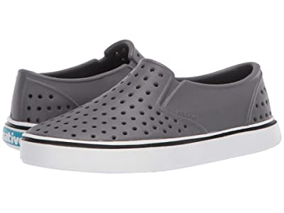 Native Kids Shoes Miles Slip-On (Little Kid/Big Kid) (Dublin Grey/Shell White) Boys Shoes