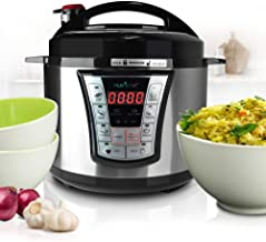 NutriChef Electric Pressure Cooker - 5 Quart Programmable Multi-Cooker with Digital Display | Rice Cooker | Slow Cooker | Adjustable Temp & Timer (PKPRC66)