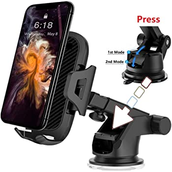 Godefa Vacuum Car Mount Air Vent//Dashboard Car Mount Phone Holder Cradle for iPhone Xs Max R X 8 Plus 7 Plus 6S Samsung Galaxy S9 S8 Edge S7 S6 LG Sony and More
