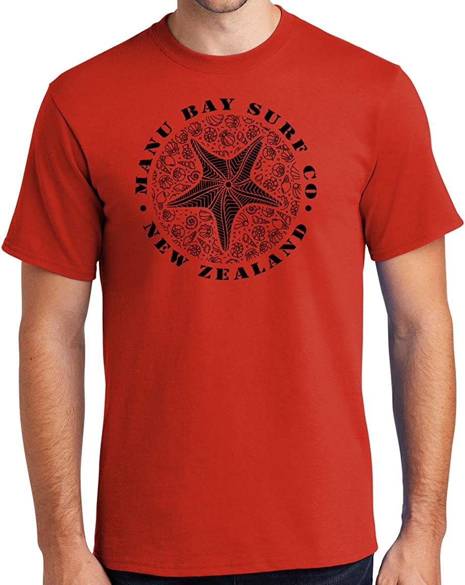 Manu Bay Surf Company Starfish Surfer Tee Shirt - Regular, Big and Tall Sizes
