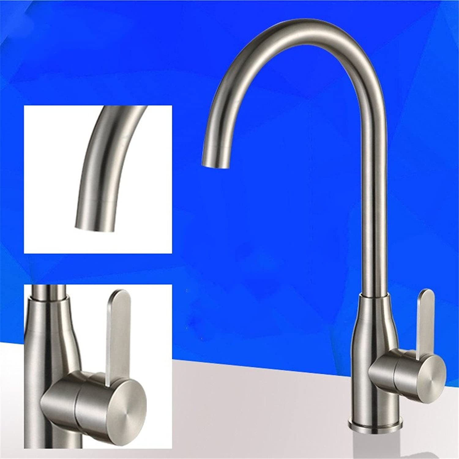 Gyps Faucet Basin Mixer Tap Waterfall Faucet Antique Bathroom 304 Stainless Steel kitchen faucet hot and cold-water dish basin mixer 360 redation Bathroom Tub Lever Faucet