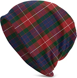 ISDFNI26 Fraser Red Tartan Adult Headgear Full-Length Christmas Fashion Pattern for Adult Boys and Girls, Comfortable and Durable Head Protection