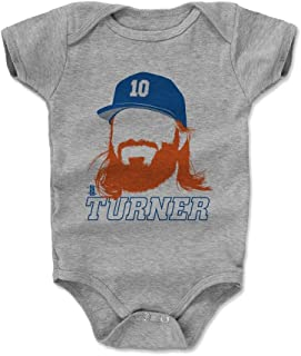 500 LEVEL Justin Turner Baby Clothes & Onesie (3-6, 6-12, 12-18, 18-24 Months) - Los Angeles Baseball Baby Clothes - Justin Turner Silhouette