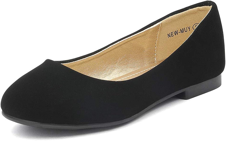 DREAM PAIRS Muy Girls Dress Shoes Slip on Ballerina Flats