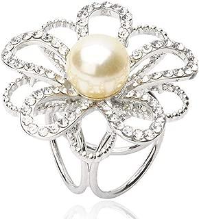 JINDUOQ Fashion Flower Scarf Buckle Wedding Brooch Holder Scarf Jewelry Fashion Delicate N-7