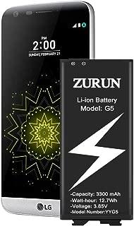 LG G5 Battery ZURUN 3300mAh Replacement Battery Li-ion for LG G5 BL-42D1F US992 VS987 LS992 H820 H830 H845 Dual H850 H858 Spare Battery [2 Year Warranty]