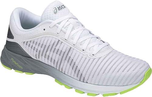 ASICS T7D0N Men's Dynaflyte Running schuhe, Weiß schwarz Stone grau - 12.5