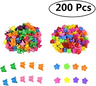 200 Pcs Butterfly Hair Clips and Flower Hair Clips,  Mini Hair Claw Clips Hair Accessories for Girls and Women(Random Color)
