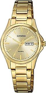 Citizen Women Gold Dial Stainless Steel Band Watch - EQ0593-85P