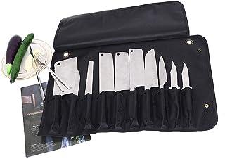 HNYG Bolsa de tela Oxford para cuchillos de chef, ,bolsa de viaje para cuchillos de chef, bolsa de almacenamiento para cuchillos de chef bolsa para cuchillos portátil con 10 ranuras