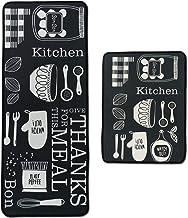 Leebei Kitchen Rugs Floor Mat Kitchen Mats Set Non-Slip Washable,Indoor Doormats Area Rugs for Kitchen Bedroom Bathroom Ca...