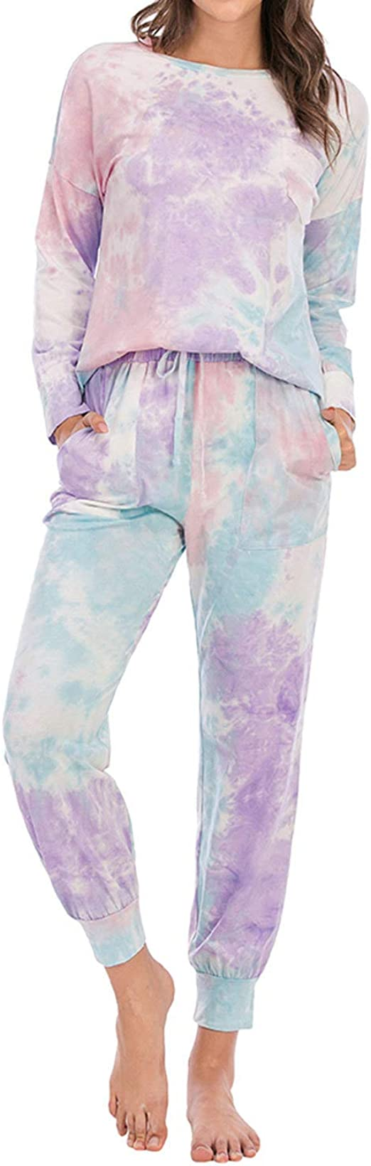 Lu's Chic Women's Lounge Sets 2 Piece Pajama Long Sleeve Soft Loungewear with Pockets