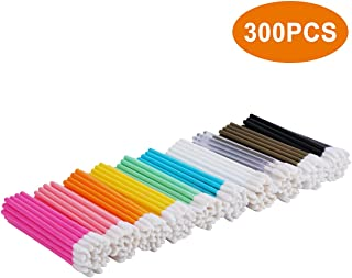 Lip Brush, 300 PCS Disposable Makeup Applicators, Lip Gloss Brush Lipstick Applicator Wands, Perfect Beauty Lipstick Cosmetic - Tifanso Multicolor Makeup Tool Kits