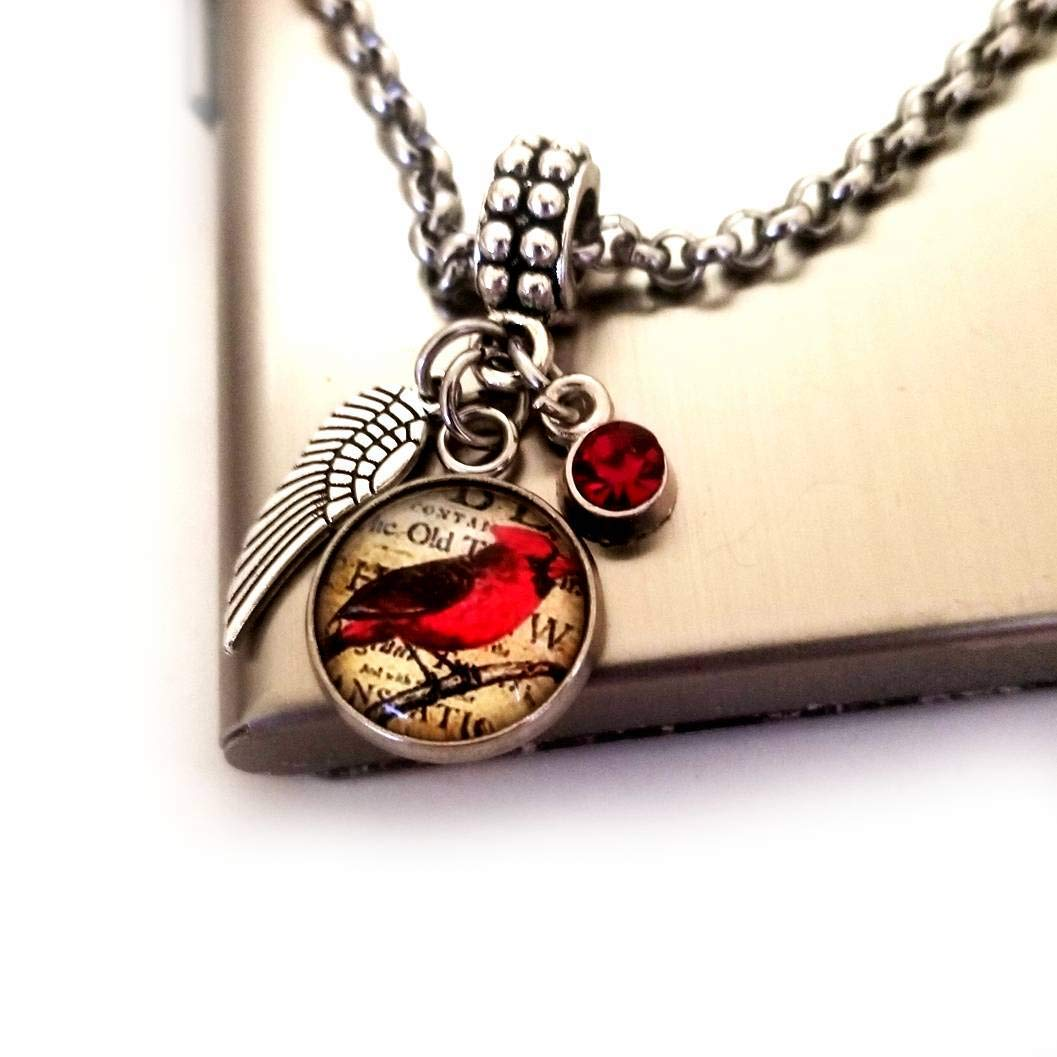 Popular popular Cardinal Sympathy Gift for Loss Special price for a limited time with C Necklace Charm Bracelet