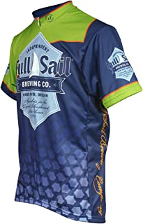 Pace Sportswear Full Sail Jersey, Small, Navy/Green