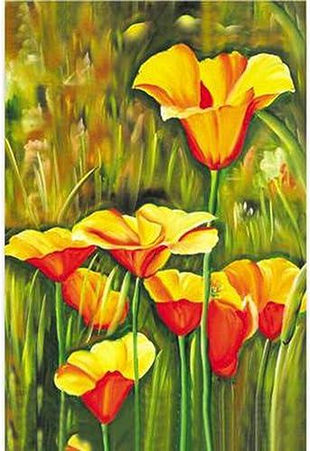 LINGNA Puzzle en Bois, développeHommest intellectuel Fun Fleur de Tulipe Peinture Assemblage Jeu décoration de la Maison Adultes Enfants Cadeau,1000pieces