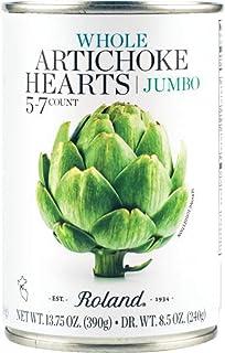 Roland Foods Whole Jumbo Artichoke Hearts, 5-7 Count, 13.75 Oz