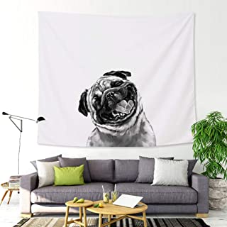 Wall Tapestry Dog Wall Hanging Cute Bed Sheet Blanket...