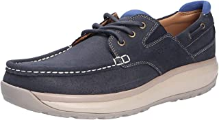 JOYA Mens Havanna Leather Textile Shoes