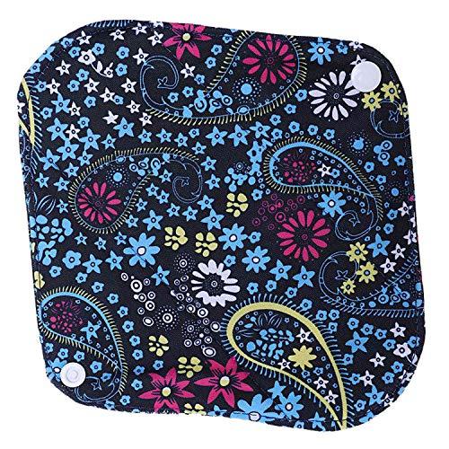 Naliovker Wiederverwendbares Waschbares Bambustuch-Menstruationskissen Mama-Damenbinde-Kissen (Art 1) S: 20 x 6Cm