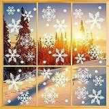 O-Kinee Decoracion Navidad Ventana, 335 Pegatinas Decorativas de Copo de Nieve para Adorno Navideño Accesorio de Decoración para Navidad, Adornos Navideños