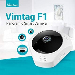 Vimtag F1 Panoramic Smart Camera - 3MP - Night Vision - Smart Motion Detection - Cloud Storage - Multiple Viewing Options - Multi User View - 360 Degrees Viewing - Two-Way Audio