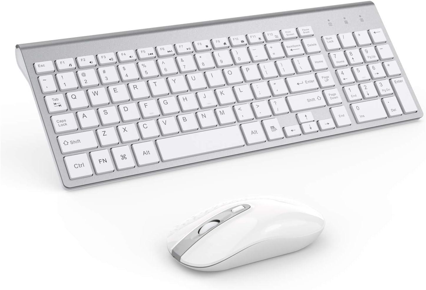 PC Computer Cimetech Compact Full Size Wireless Keyboard and Mouse Set 2.4G Ultra-Thin Sleek Design for Windows Wireless Keyboard Mouse Combo Purple Desktop Notebook -