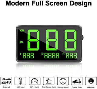 Head Up Display/GPS Speedometer for Cars, 4.5inch Large Screen, with Odometer/Overspeed Alarm/Fatigue Alert, Universal for...