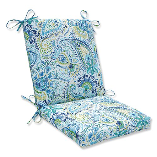 Pillow Perfect Outdoor/Indoor Gilford Baltic Square Corner Chair Cushion, 36.5