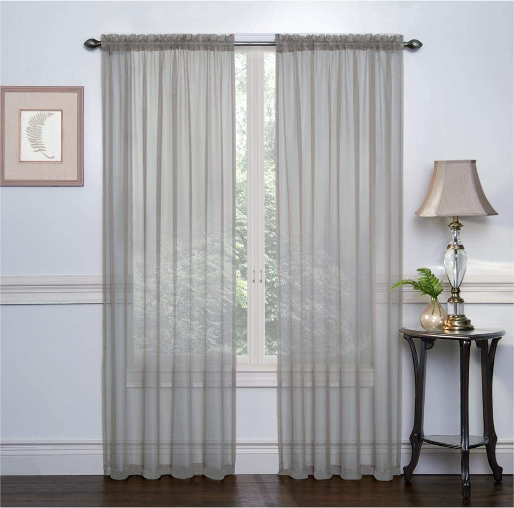 Ruthy's Textile 2 Pack Sheer Max 59% OFF Voile Window Directly managed store Rod Pocket C Treatment